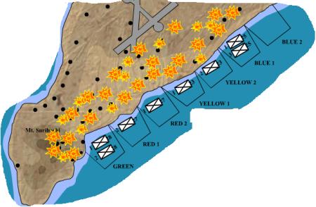 Le spiagge dello sbarco. Da History animated, sito raccomandato