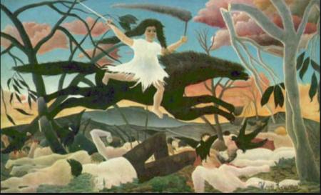 "Henri Rousseau ""Il doganiere""( 1844-1910). Allegoria della guerra( 1894 circa). Parigi, Musée d'Orsay."