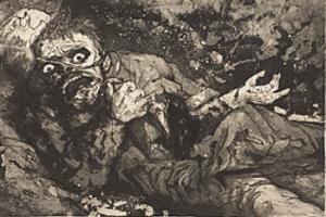 Otto Dix ( 1891-1969). Soldato ferito(1916).