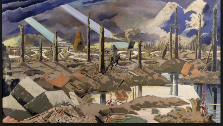 Paul Nash( 1889-1946), The Menin Road( 1919), Imperial War Museum, London