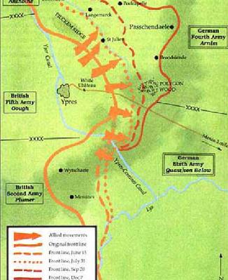 Passchendaele la mappa