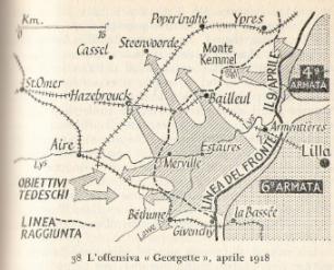 L' Operazione Georgette. Fonte: Correlli Barnet, I generali delle sciabole, Longanesi, 1963. Clicca sulla cartina per ingrandirla.
