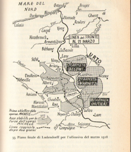 Il Piano Michael. Fonte: Correlli Barnett, I generali delle sciabole, Longanesi, 1963