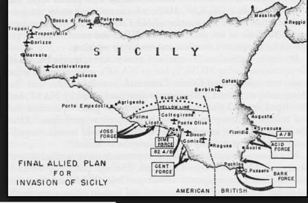 Invasione della Sicilia mappa da www.ibiblio.org