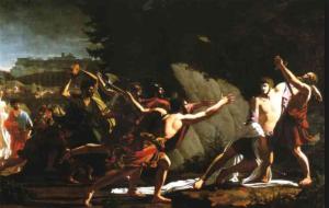 Jean Baptiste Topino-Lebrun ( 1764-1801), La morte di Caio Gracco(1792), Marsiglia, Musée des Beaux-Arts.