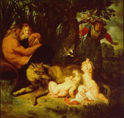 Pieter Paul Rubens ( 1577-1640): Ritrovamento di Romolo e Remo( 1615-1616), Roma, Musei Capitolini.