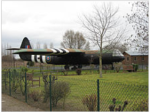 Modello - a grandezza naturale-di un aliante Horsa al Pegasus Memorial