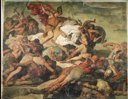 Arminius Ambush, L'imboscata di Arminio, 1873. Peter Jansen(1844-1908)