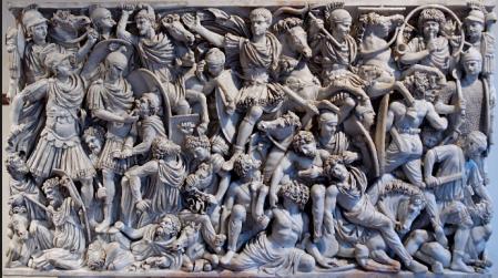 Sarcofago Ludovisi 260 circa Museo Altemps Roma
